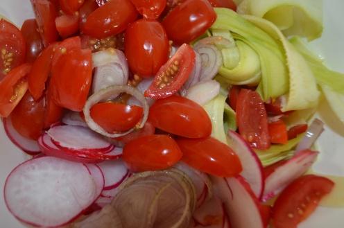 Farm Fresh Zucchini Noodle Salad