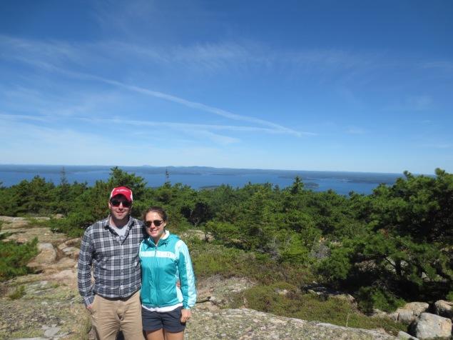 Hiking on our honeymoon