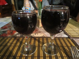 Liberal pours of pinotage