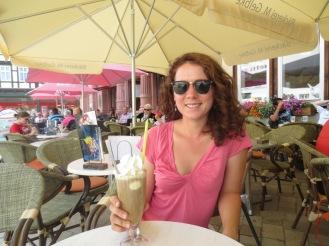 German iced coffee-with ice cream and cream!