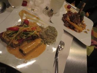 Seared Tuna and Lamb Shank