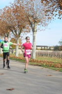 Running through wine country in a marathon in France