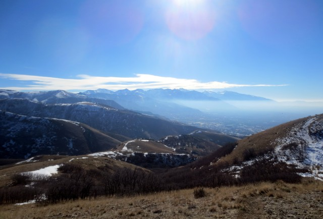 Here's a view of Salt Lake from up high.
