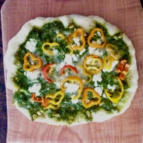 Pesto-Sweet Pepper Pizza